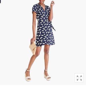 J. Crew Leopard wrap dress, size 6